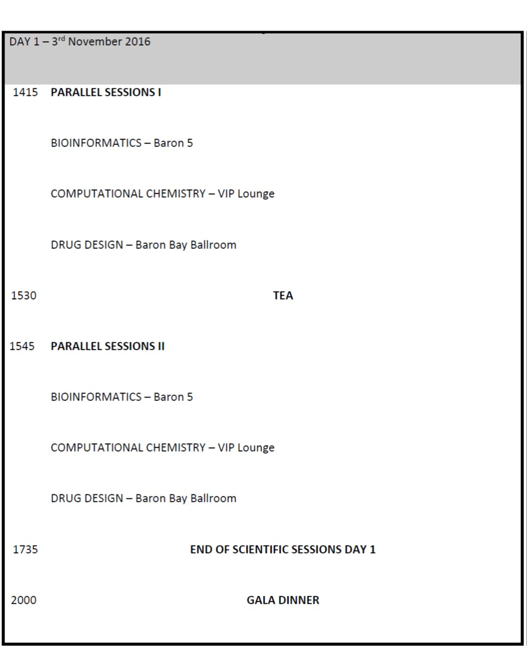 time table4